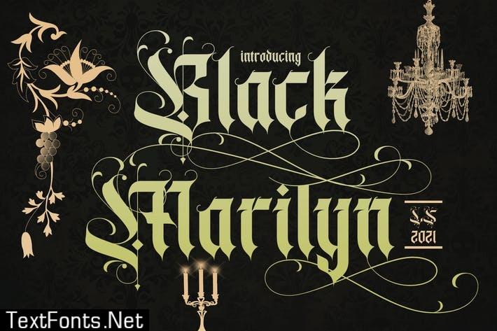 Black Marilyn | Blackletter Font