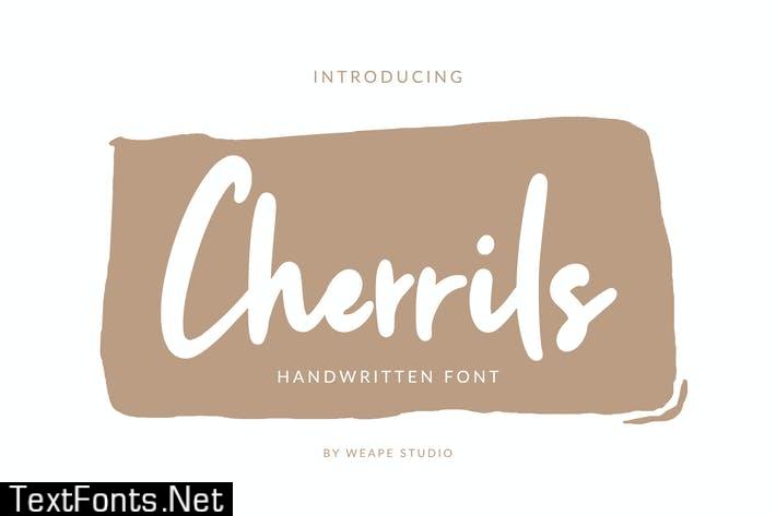 Cherrils - Handwritten Font