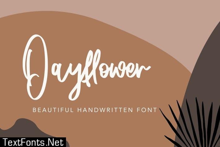 Dayflower - Handwritten Font