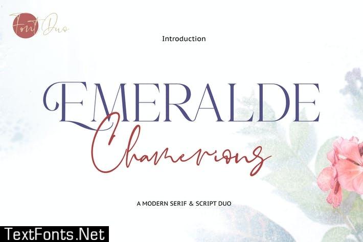 Emeralde Chamerions - Stylish Font Duo