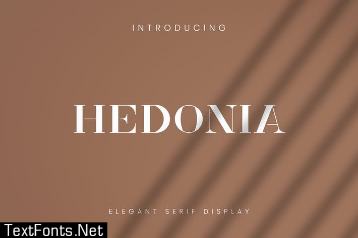 Hedonia Font - Muzitemp