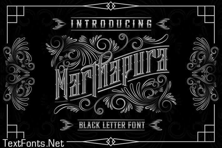 Marthapura Display font