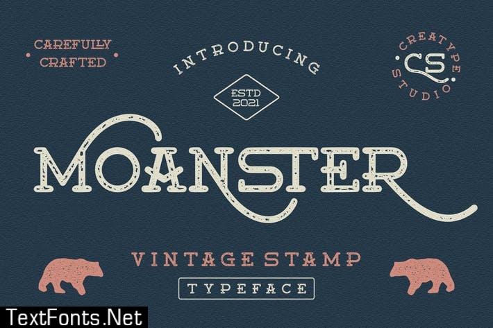 Moanster Vintage Stamp