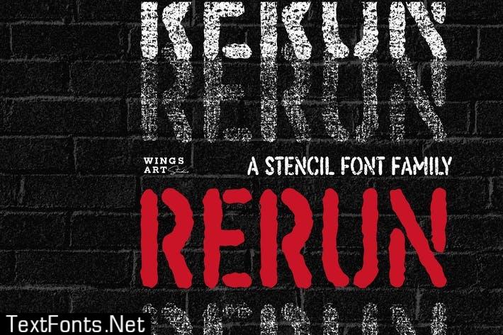 ReRun: A Stencil Font Family