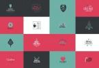 Christmas Logos Set