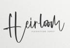 Heirloom - Signature Font