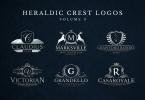 Heraldic Crest Logos Set 3