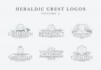 Heraldic Crest Logos Set 4