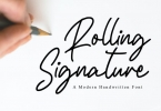 Rolling Signature Font