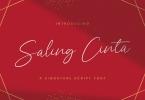 Saling Cinta - Handwritten Font