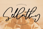 Sellathy | A Beauty Signature Font