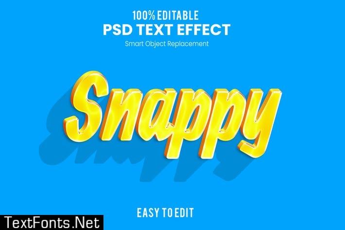 SNAPPY - 3D Text Effect PSD K2SJCR9