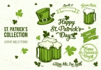 St. Patrick's Day Clipart and Lettering Collection