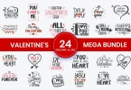 Valentine's Mega Bundle SVG Cut Files for Crafter