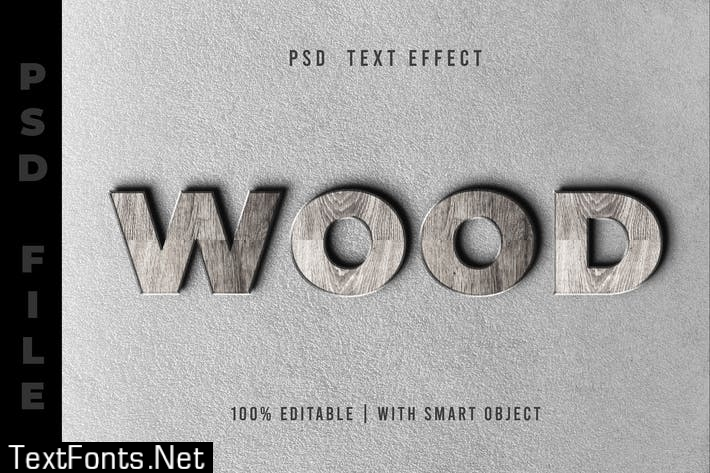 Wooden Realistic - Text Effect