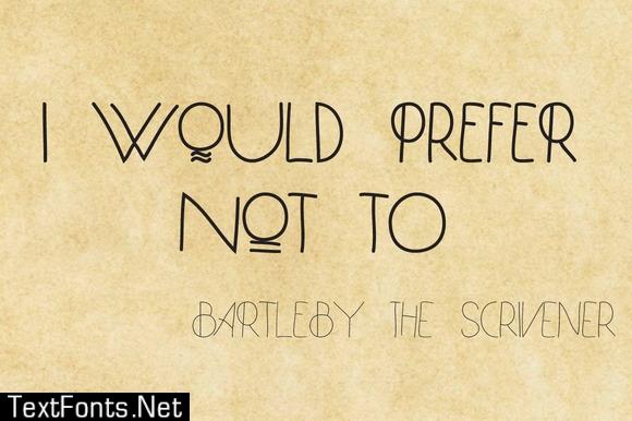 Bartleby Family Font