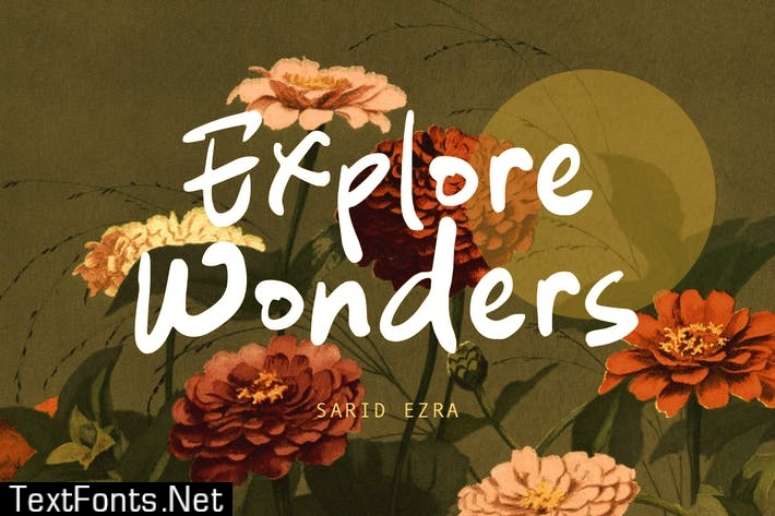 Explore Wanders - Bold Handwritten Font