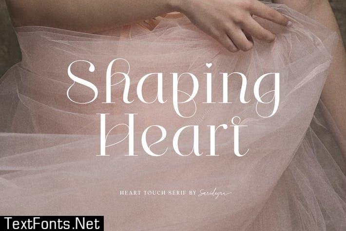 Shaping Heart - Lovely Serif