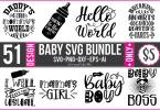 51 Baby SVG Bundle