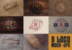 8 Realistic Logo or Text Mock-ups
