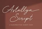 Astallya - Signature Font