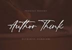 Author Think - Authentic Signature