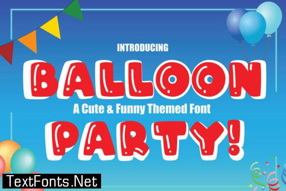 Balloon Party! Font