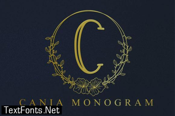 Cania Monogram Font