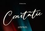 Constatic Signature Font