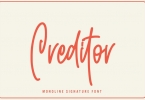 Creditor - Monoline Signature Font