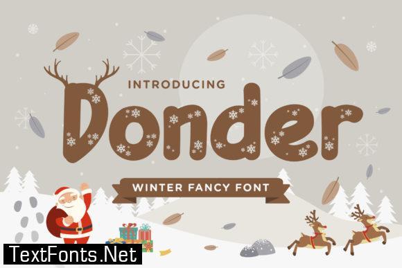 Donder Font