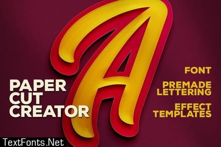 Double Paper Cut Effect & Lettering