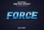 Force - 3D Text Effect