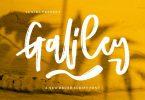 Galiley | A New Brush Script Font
