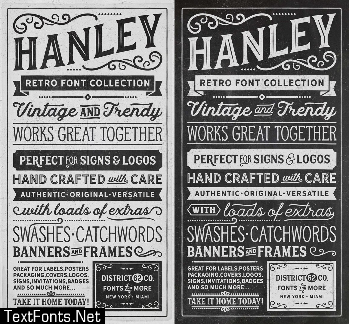 Hanley Font Collection 623759