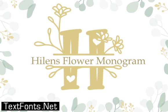 Hilens Flower Monogram Font