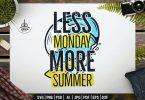 Less Monday More Summer Badge Design