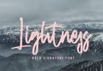 Lightness - Bold Signature Font