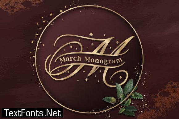 March Monogram Font