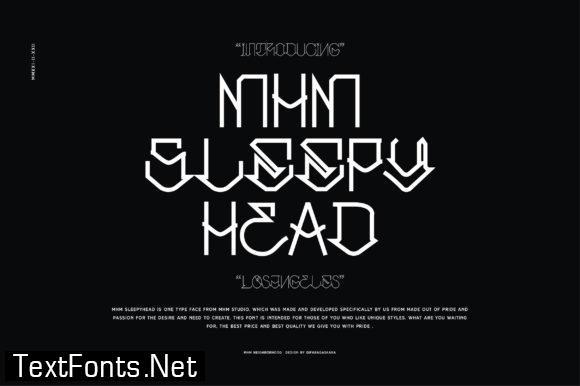 Mhm Sleepyhead Font