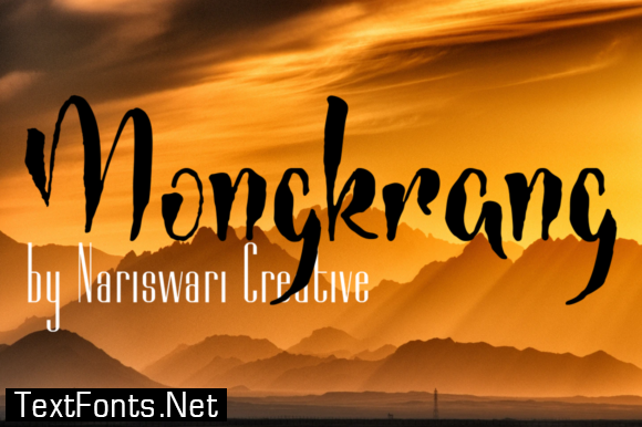 Mongkrang Font