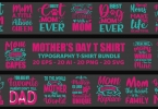 Mother's Day Typography T-shirt Bundle