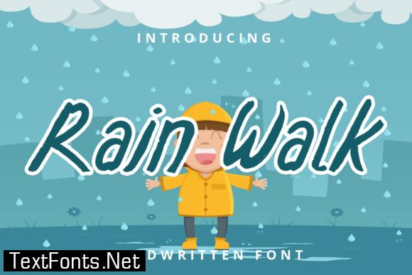 Rain Walk Font
