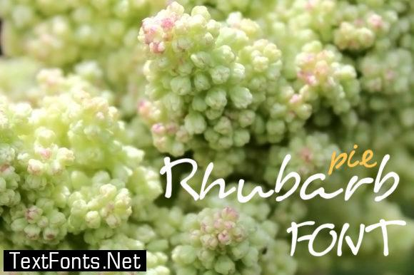 Rhubarb Pie Font