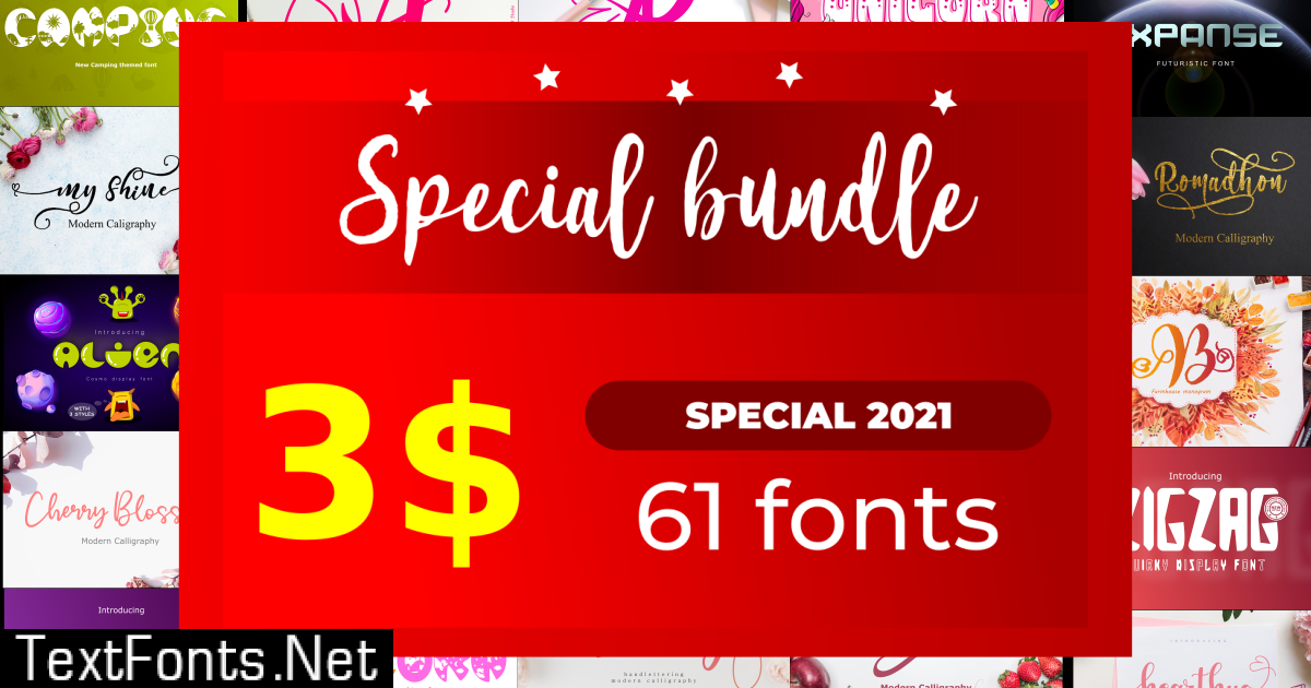 Special Bundle of Lovely Fonts