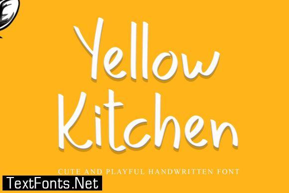 Yellow Kitchen Font
