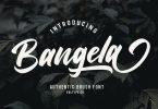 Bangela Bold Brush Font