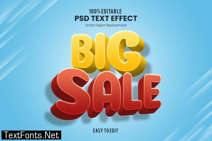 Big Sale - Playful 3D PSD Text Effect