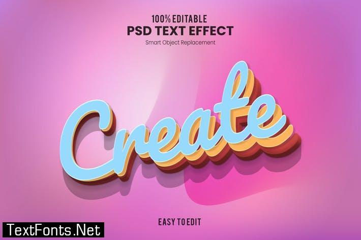 Create - Playful 3D PSD Text Effect