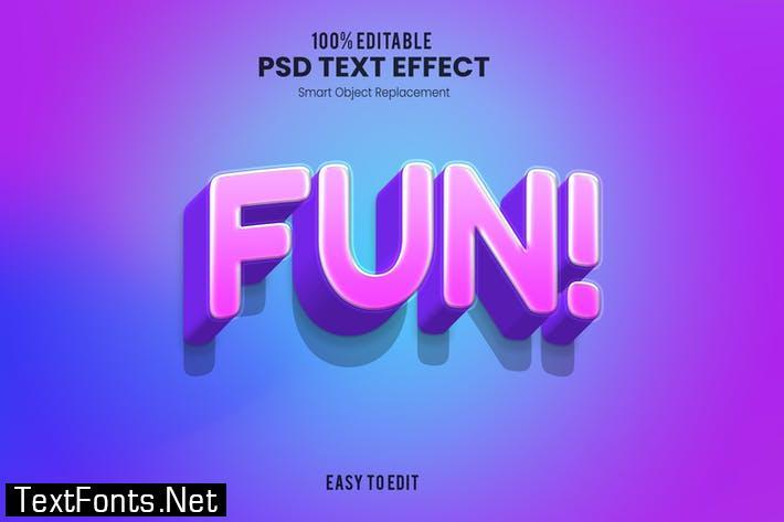 Fun! - Playful 3D PSD Text Effect